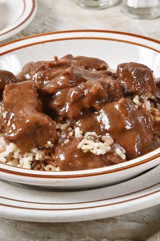 Weight Watchers Slow Cooker Beef Tips