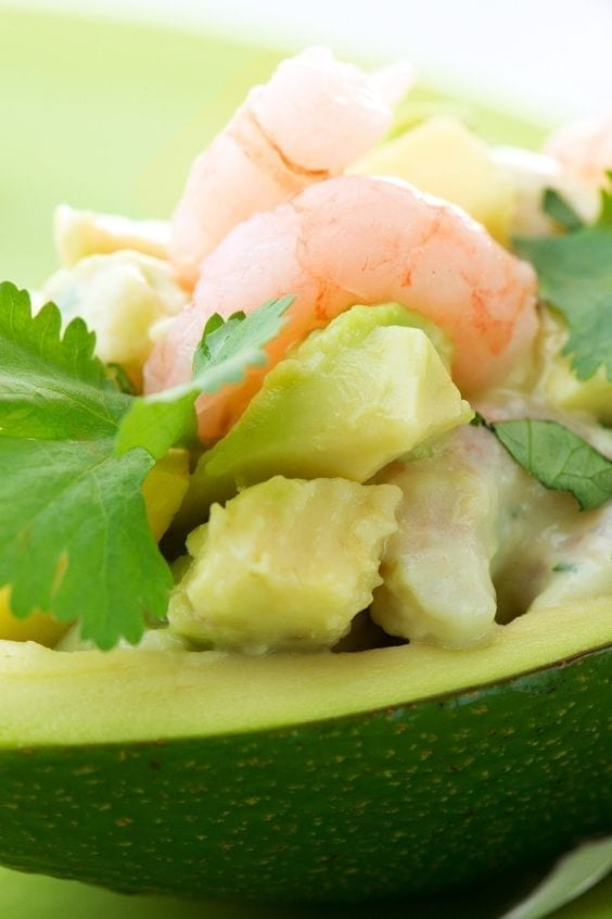 Weight Watchers Seafood Filled Avocados