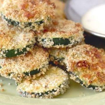Weight Watchers Zucchini Parmesan Crisps