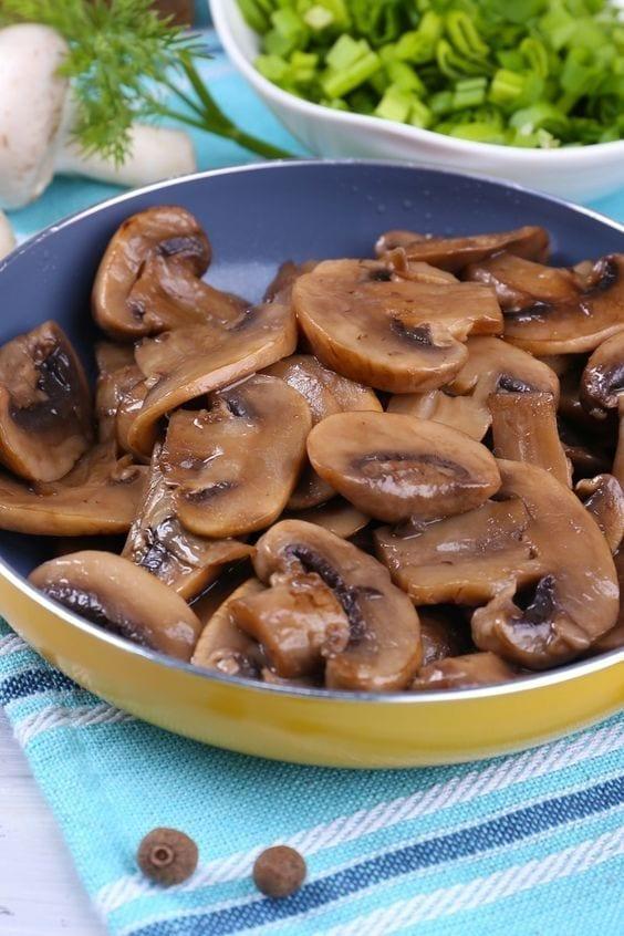 Skillet Soy Sauce Mushrooms
