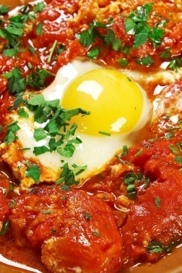 Weight Watchers Poached Eggs with Tomato Sauce