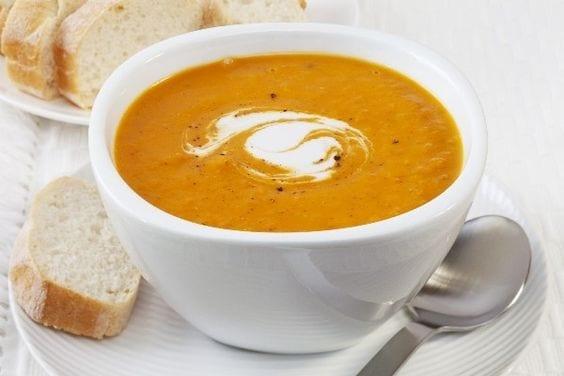 Weight Watchers Pumpkin Black Bean Soup in a bowl