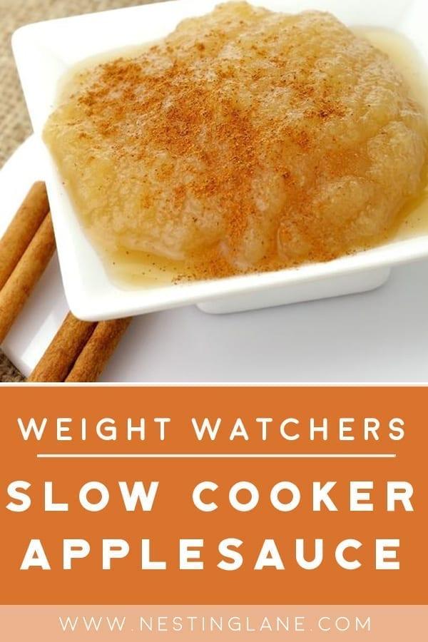 Weight Watchers Slow Cooker Applesauce