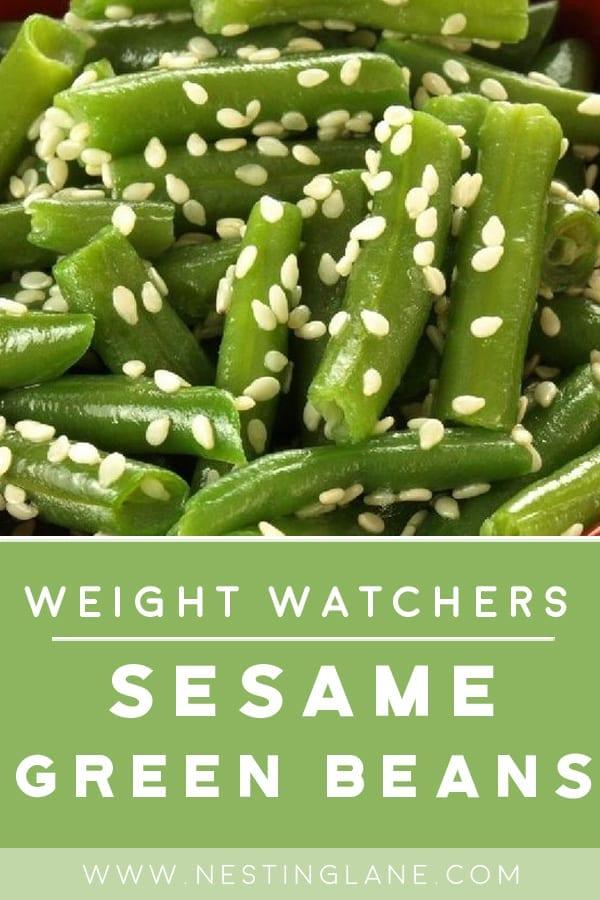 Weight Watchers Sesame Green Beans
