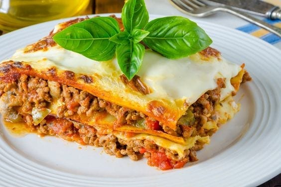 Weight Watchers Lasagna with Meat Sauce