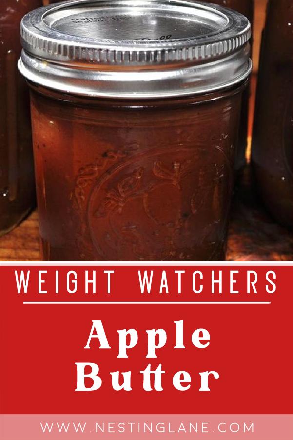 Weight Watchers Homemade Apple Butter