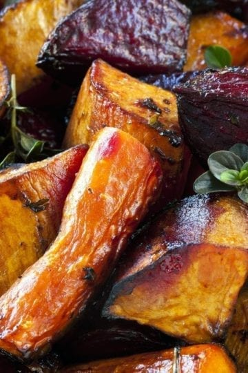 Roasted Sweet Potatoes and Beets with Weight Watchers Points