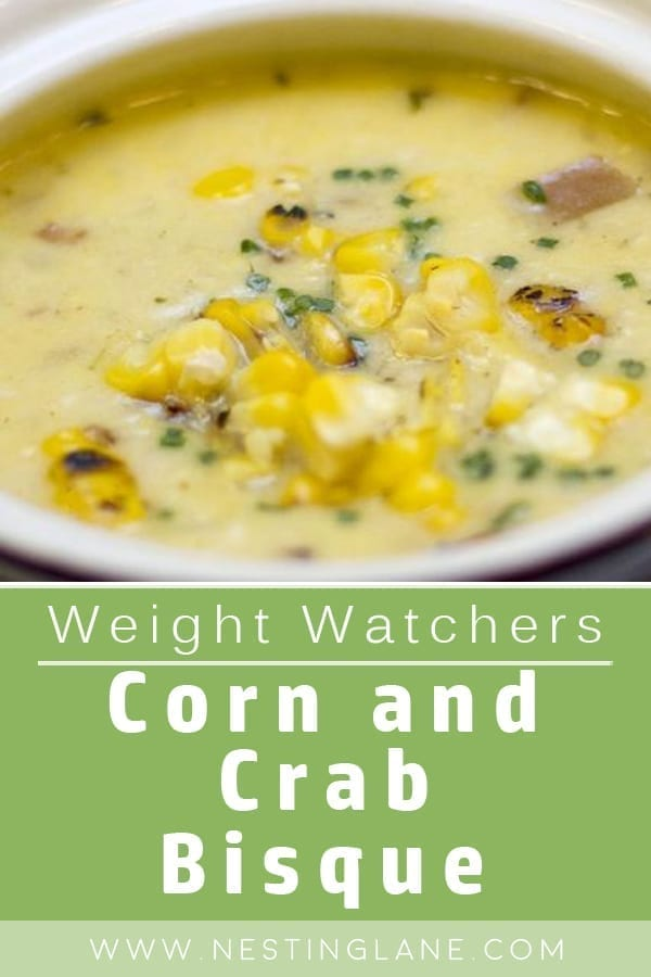 Weight Watchers Corn and Crab Bisque. A comfort food soup with chicken broth base. Cajun seasoning, cayenne pepper, bay leaves, garlic, and half-and-half. This easy soup makes a great appetizer, lunch, or dinner. MyWW Points: 6 Blue Plan and 7 Green Plan, 6 WW Freestyle Points and 7 Smart Points.