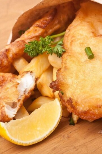Weight Watchers Fish and Chips Recipe with Homemade Tarter Sauce