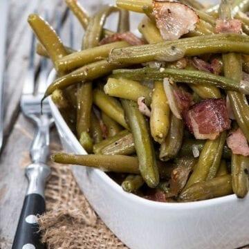 Weight Watchers Green Beans, Ham and Potatoes
