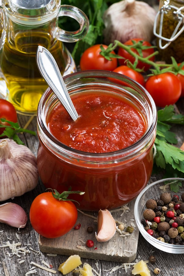 Weight Watchers Spaghetti Sauce in a jar.