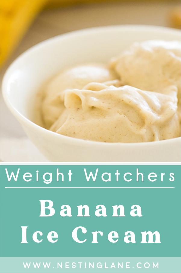 Weight Watchers Banana Ice Cream Recipe Graphic