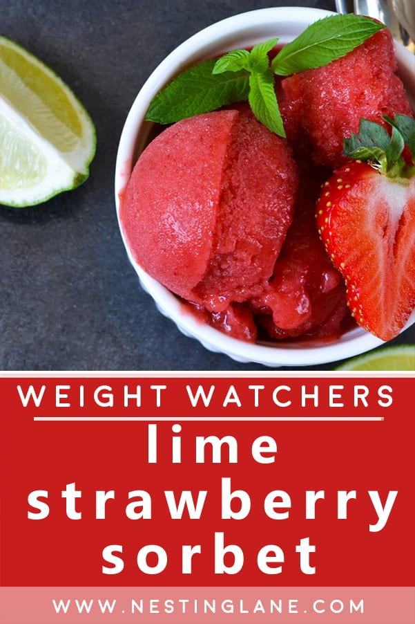 Weight Watchers Lime Strawberry Sorbet