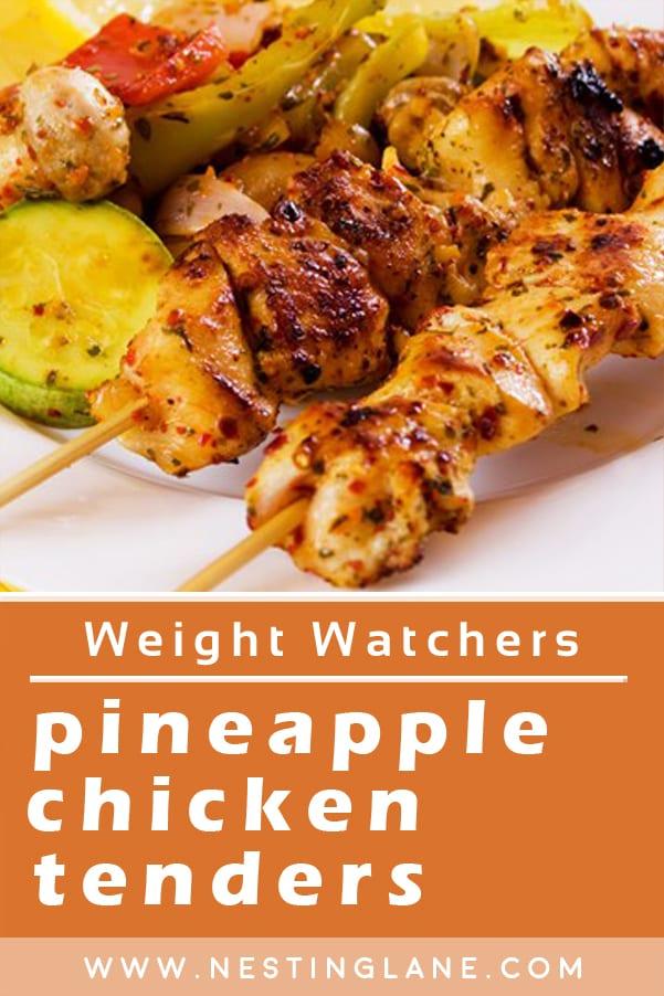 Weight Watchers Pineapple Chicken Skewers