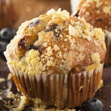 Weight Watchers Blueberry Streusel Muffins