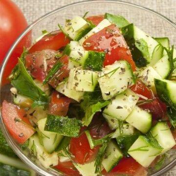 Weight Watchers Tomato Cucumber Dill Salad