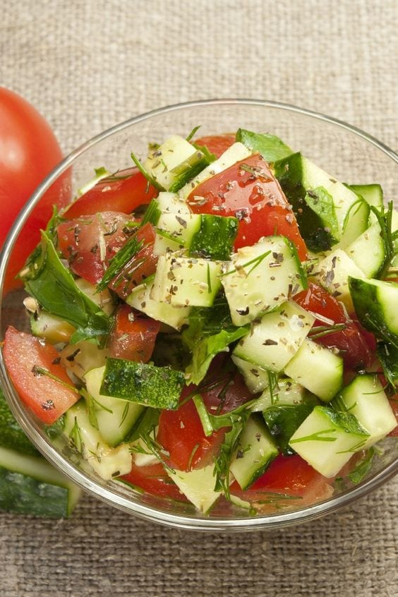 Weight Watchers Tomatoes Cucumber Dill Salad