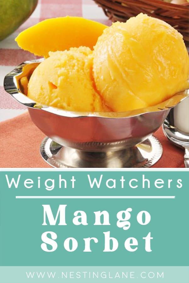 Weight Watchers Mango Sorbet