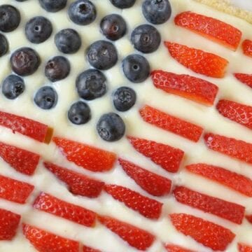 Red, White, and Blue Cake with Weight Watchers Points