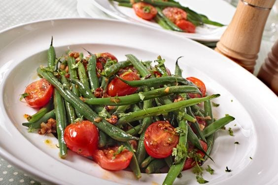 Weight Watchers Tomatoes and Roasted Green Beans