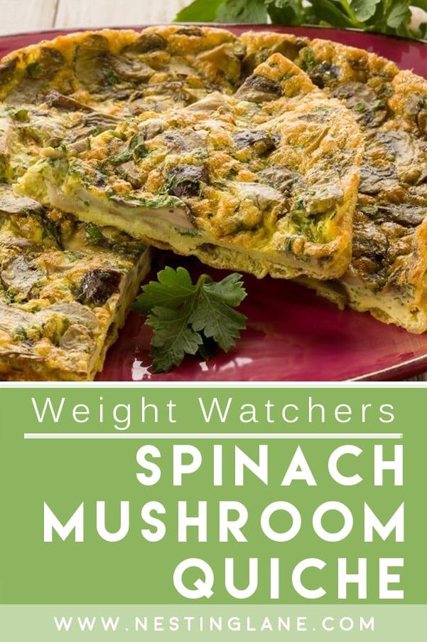 Weight Watchers Spinach Mushroom Quiche