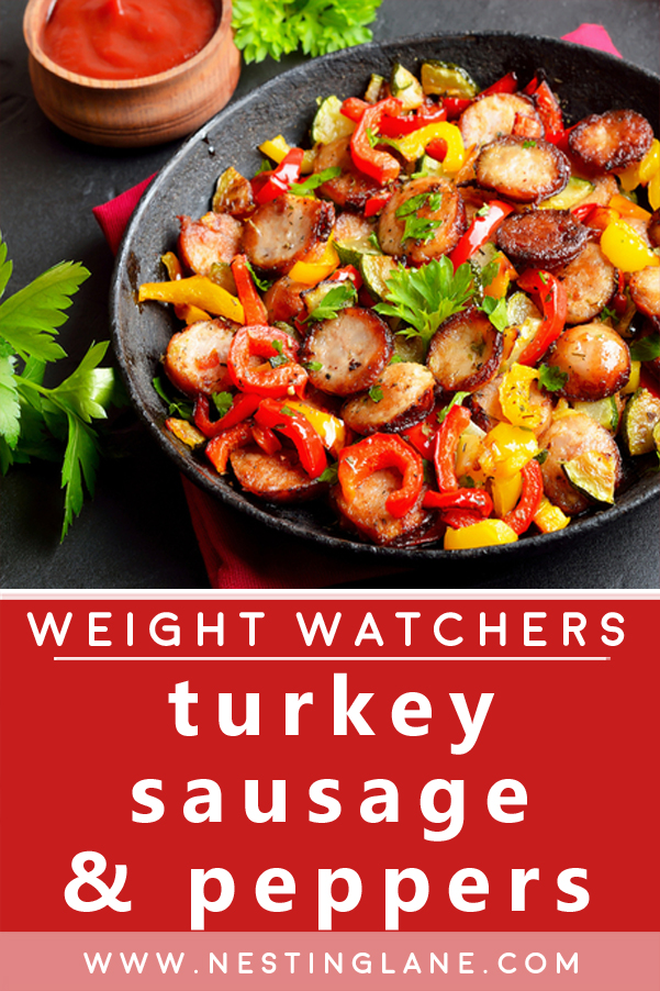 Weight Watchers Turkey Sausage with Peppers Recipe Graphic