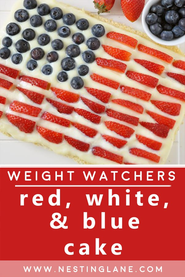 Red, White, and Blue Cake with Weight Watchers Points Recipe