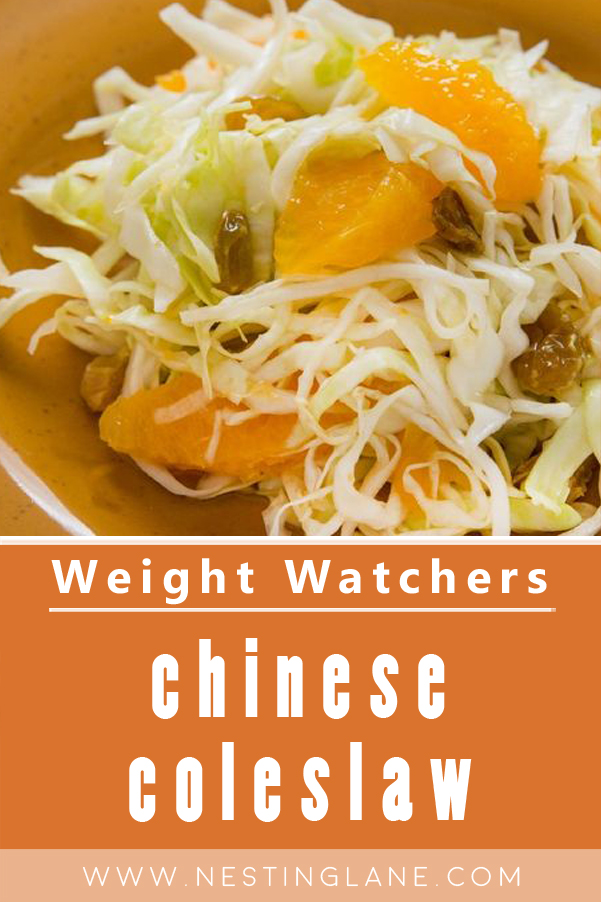 Weight Watchers Chinese Coleslaw Recipe Graphic