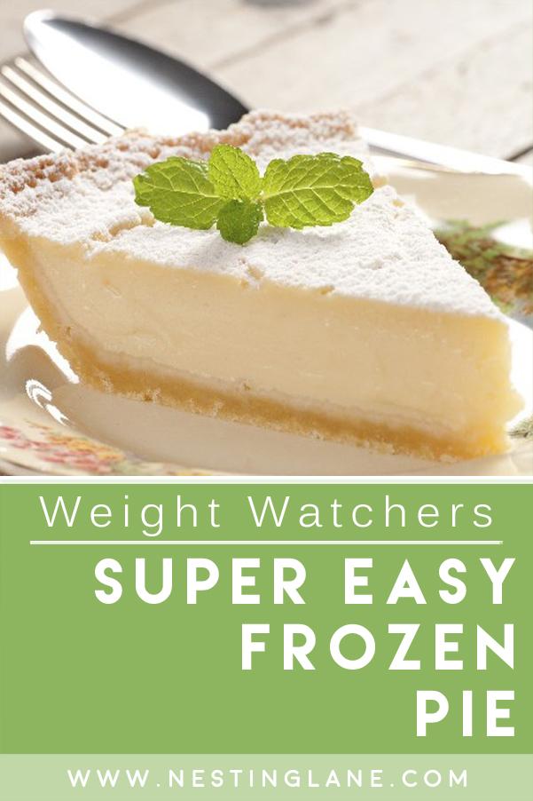 Weight Watchers Super Easy Frozen Pie