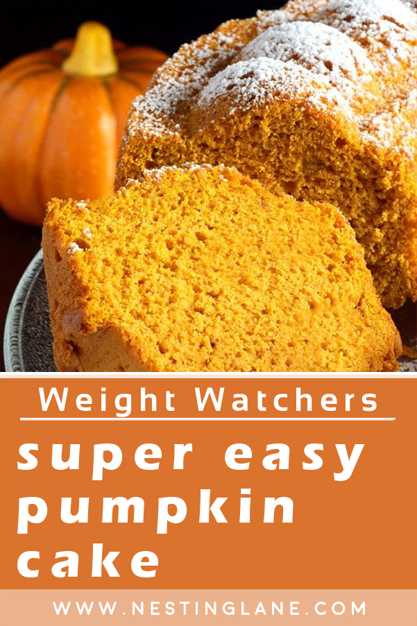 Weight Watchers Super Easy Pumpkin Cake