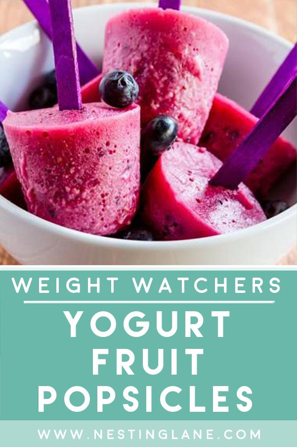 Weight Watchers Yogurt Fruit Popsicles Recipe Graphic