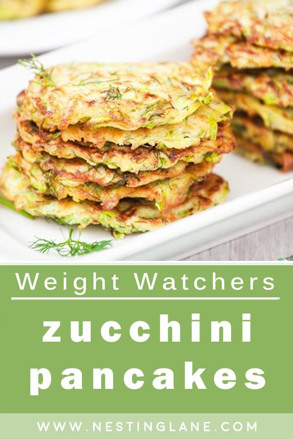 Weight Watchers Zucchini Pancakes Recipe Graphic
