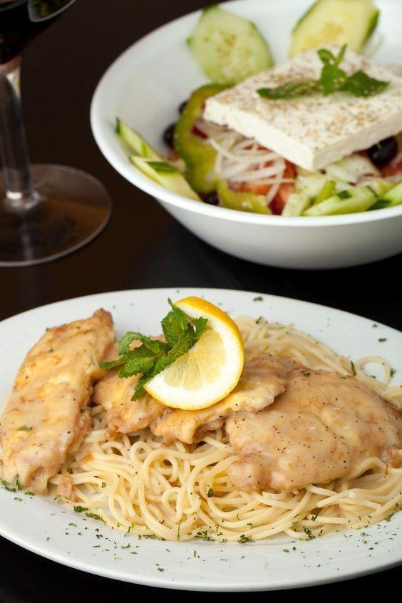 Weight Watchers Quick Garlic Lemon Chicken on a plate
