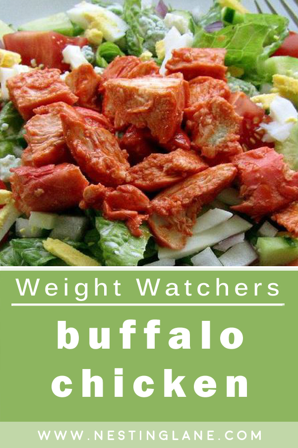 Graphic for Pinterest of Weight Watchers Buffalo Chicken Recipe