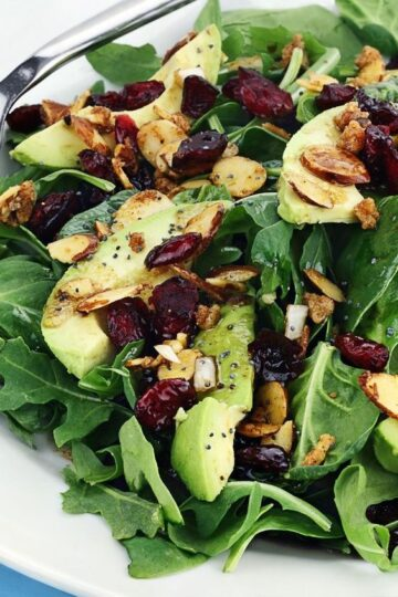 Weight Watchers Harvest Salad on a white plate