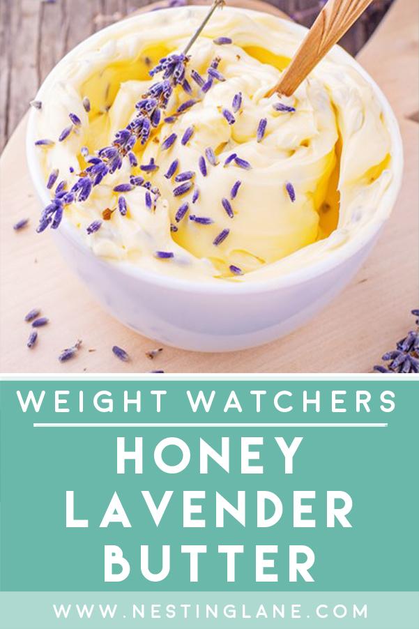 Weight Watchers Honey Lavender Butter Recipe Graphic