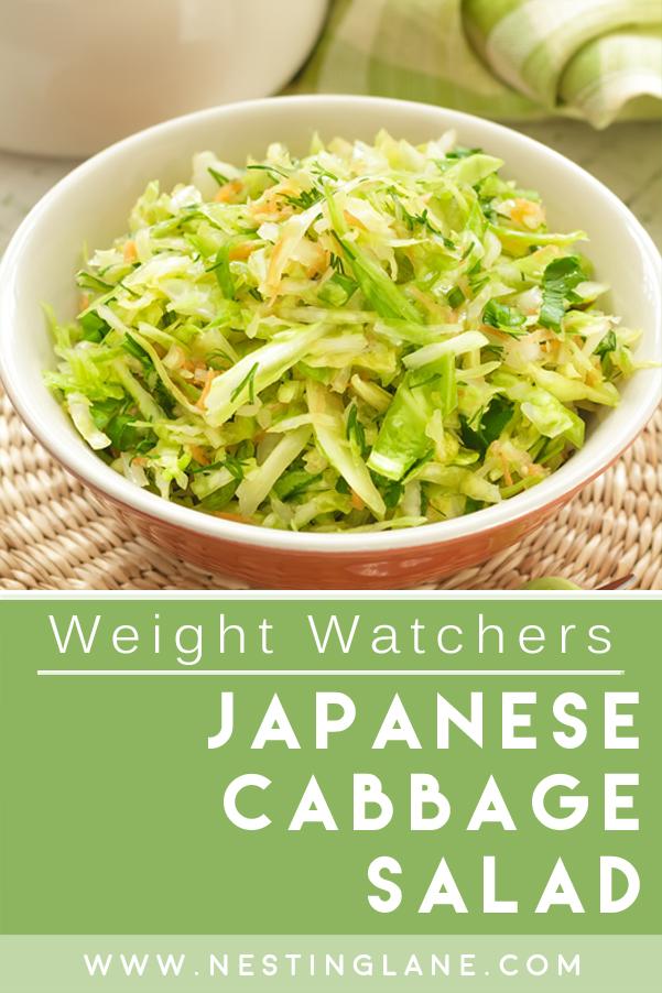 Weight Watchers Japanese Cabbage Salad
