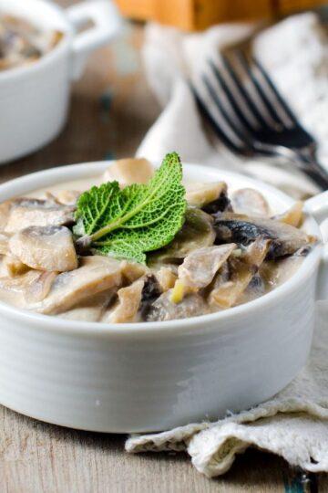 Weight Watchers Mushrooms in Creamy Cheese Sauce