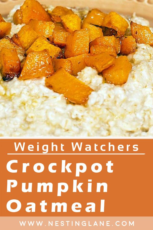 Graphic for Pinterest of Weight Watchers Slow Cooker Pumpkin Oatmeal