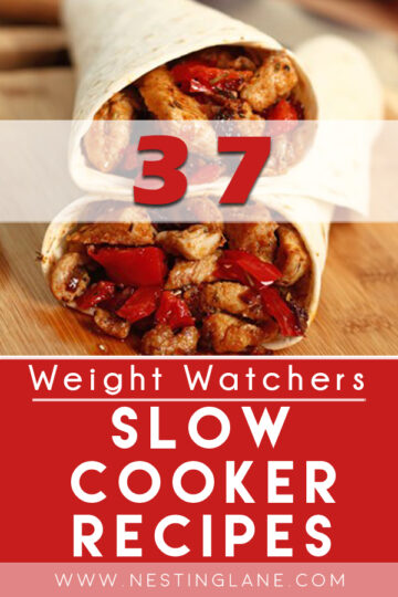 Graphic for Pinterest of 37 Weight Watchers Slow Cooker Recipes