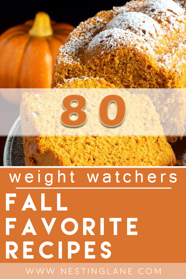 Graphic for Pinterest of 80 Weight Watchers Fall Favorite Recipes