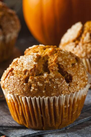 Closeup of a Weight Watchers Pumpkin Muffins
